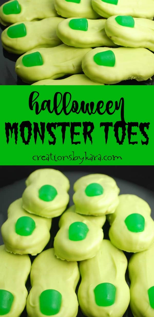 monster toes - halloween cookies with nutter butters