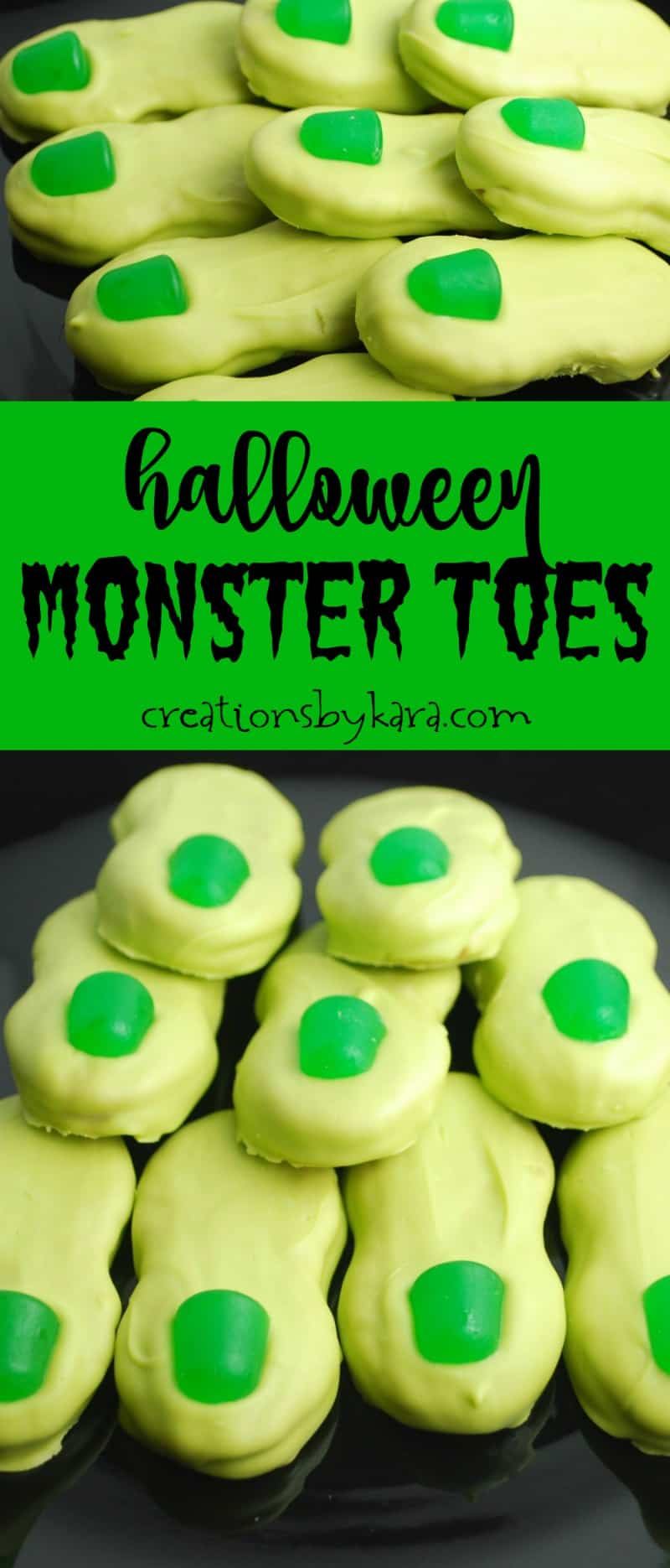 Monster Toes - these simple treats are perfect for any Halloween party. Slightly creepy, very tasty! A fun Halloween recipe!