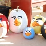 Angry, Um I mean Happy Halloween!! {Angry Birds Pumpkins}