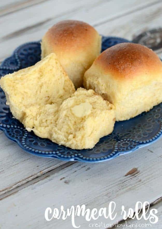Soft and fluffy Cornmeal Rolls