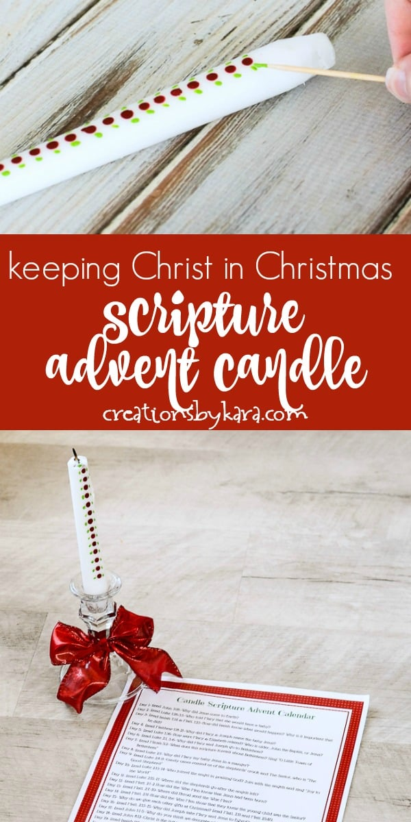 Keeping Christ in Christmas scripture advent calendar collage
