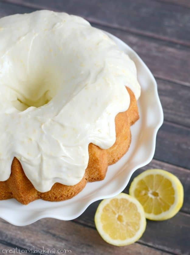 Absolutely heavenly lemon cake with lemon cream cheese frosting