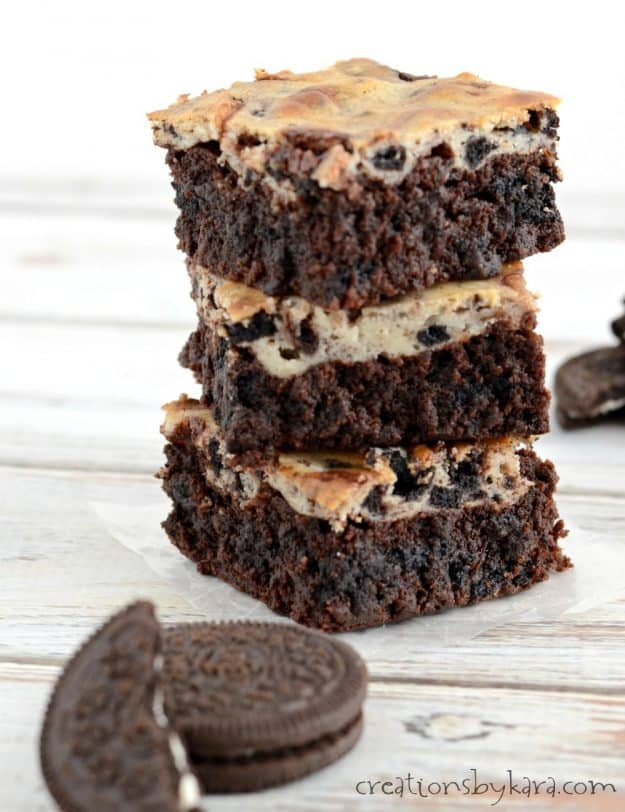 Recipe for seriously amazing Oreo Cheesecake Brownies
