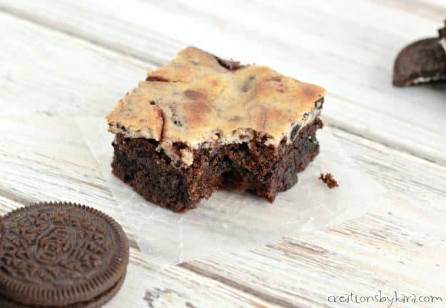 Fudgy and decadent Cheesecake Oreo Brownies. Everyone loves this dessert!