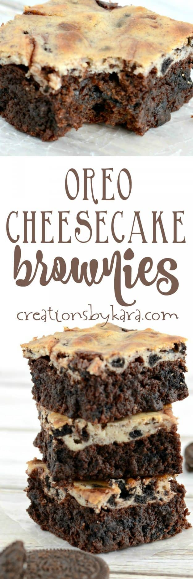 oreo cheesecake brownies recipe collage