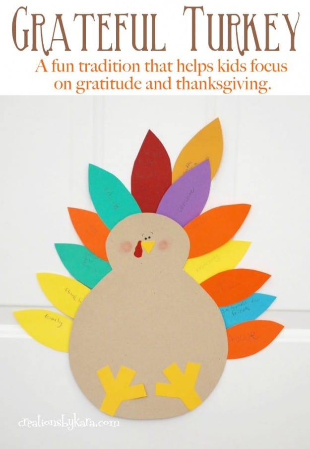 The Grateful Turkey is a perfect family craft project that helps foster gratitude.