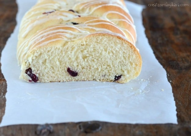 This Cranberry Eggnog Bread is easy to make, and so delicious! I stock up on eggnog just so we can make it!