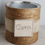 Chore Chart Jars {Tutorial}