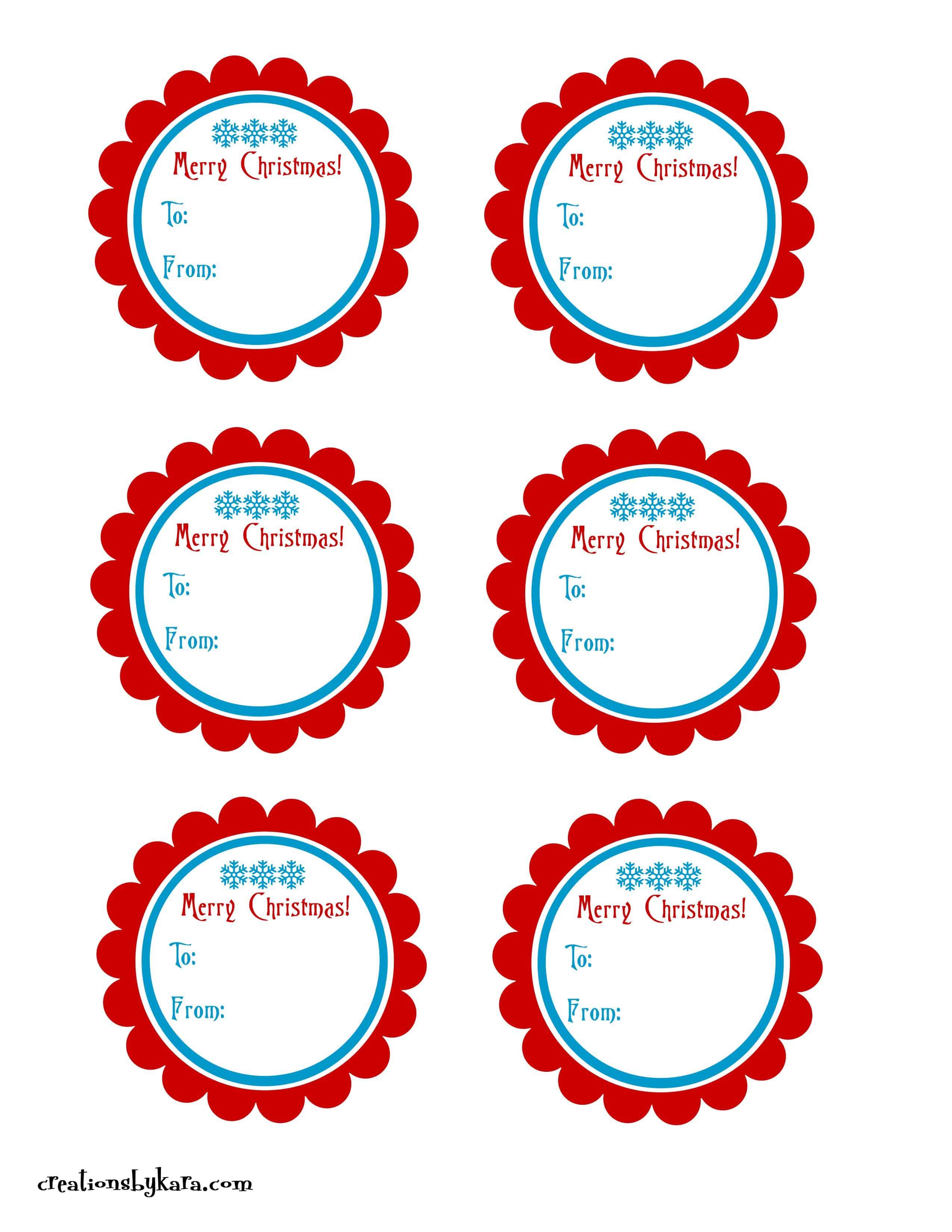Christmas gift tags2 creations by kara free printable christmas tags negle Images