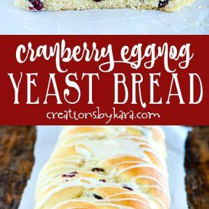 cranberry eggnog yeast bread