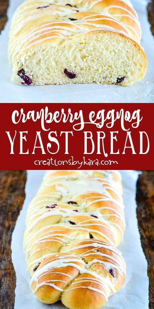 cranberry eggnog bread recipe collage