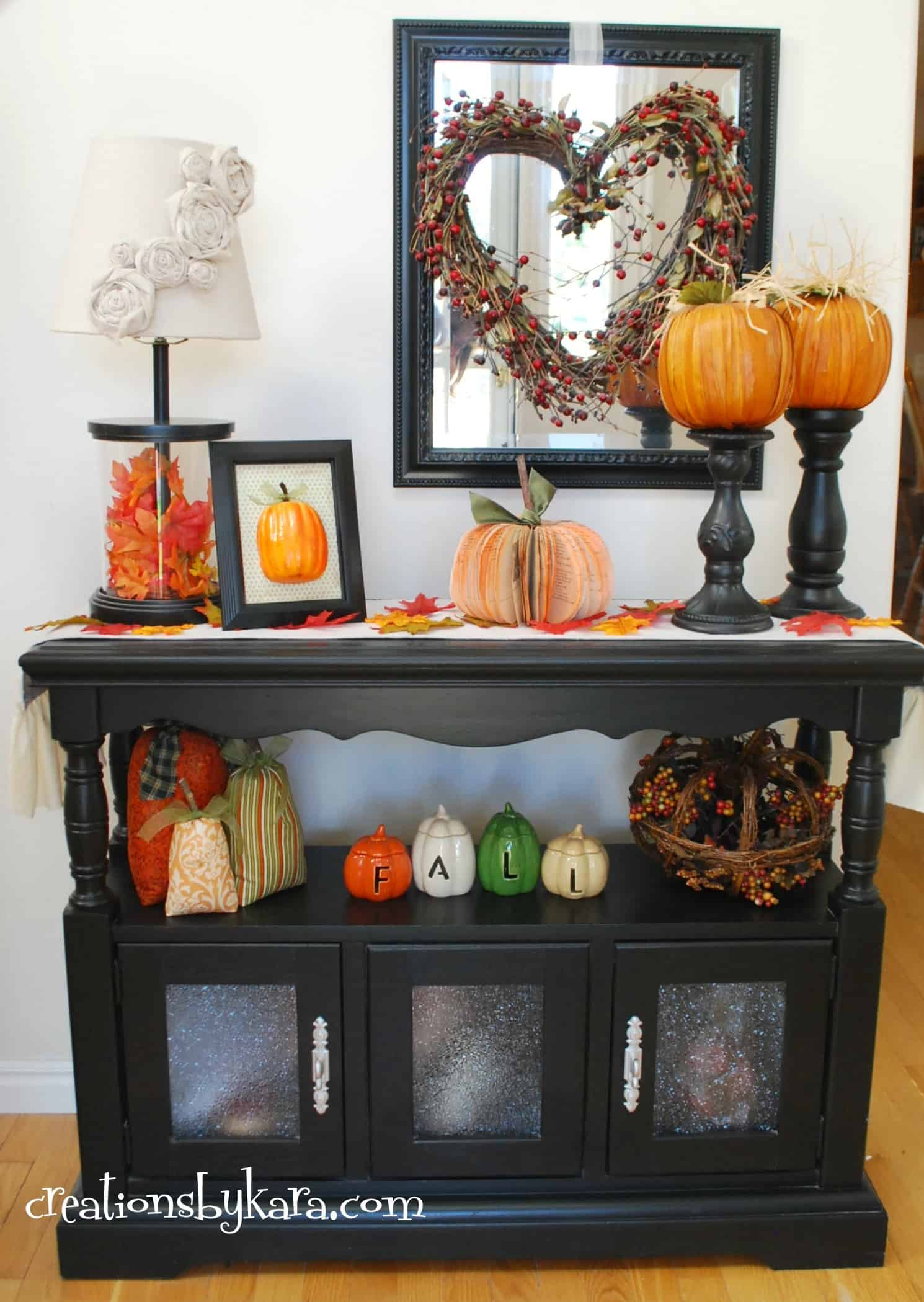 Fall Decor for Entry Console Table