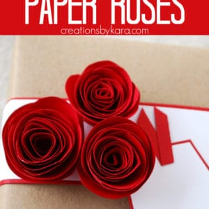 rolled paper roses pinterest pin