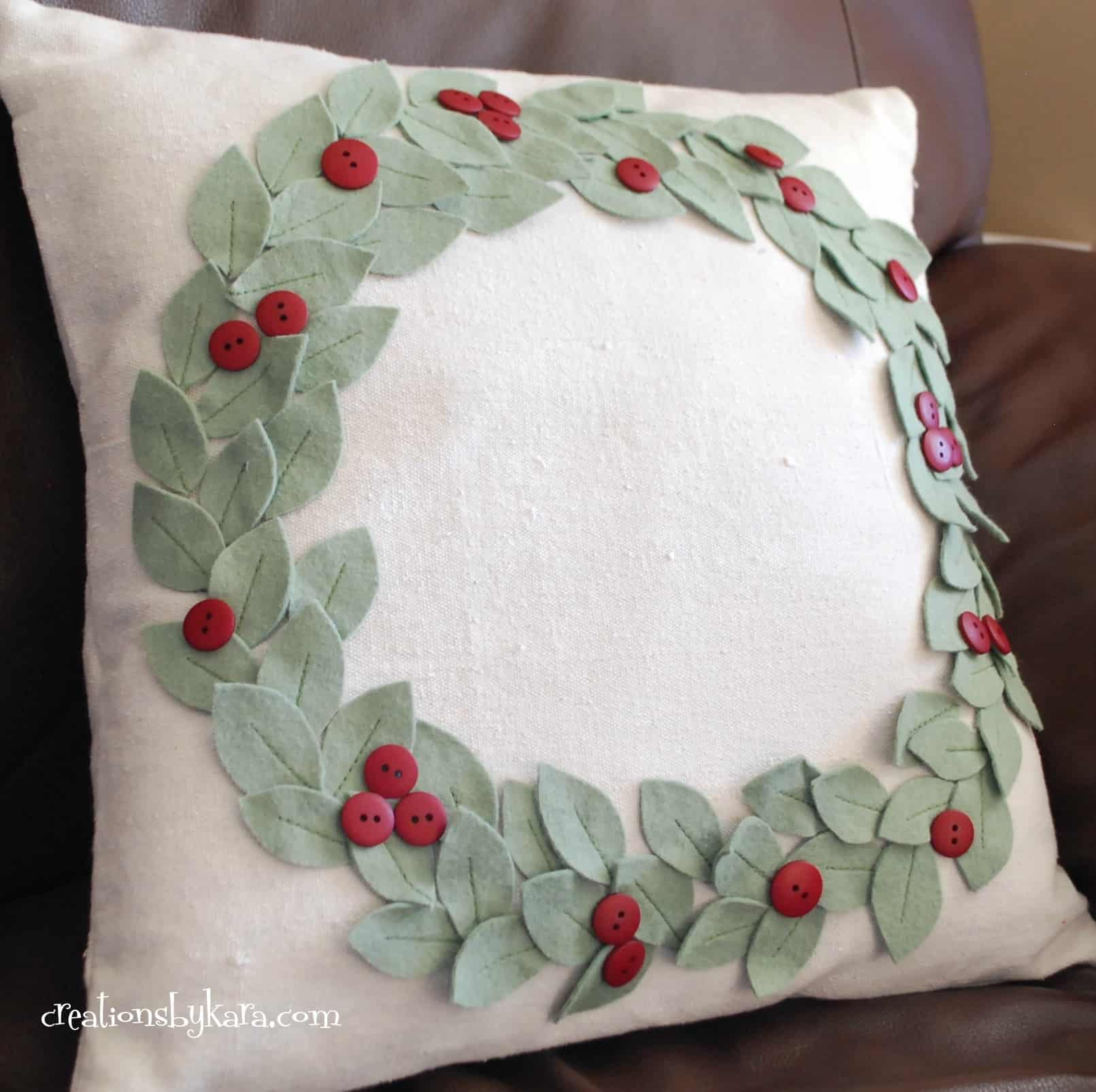 Pottery Barn Knock Off Christmas Pillow