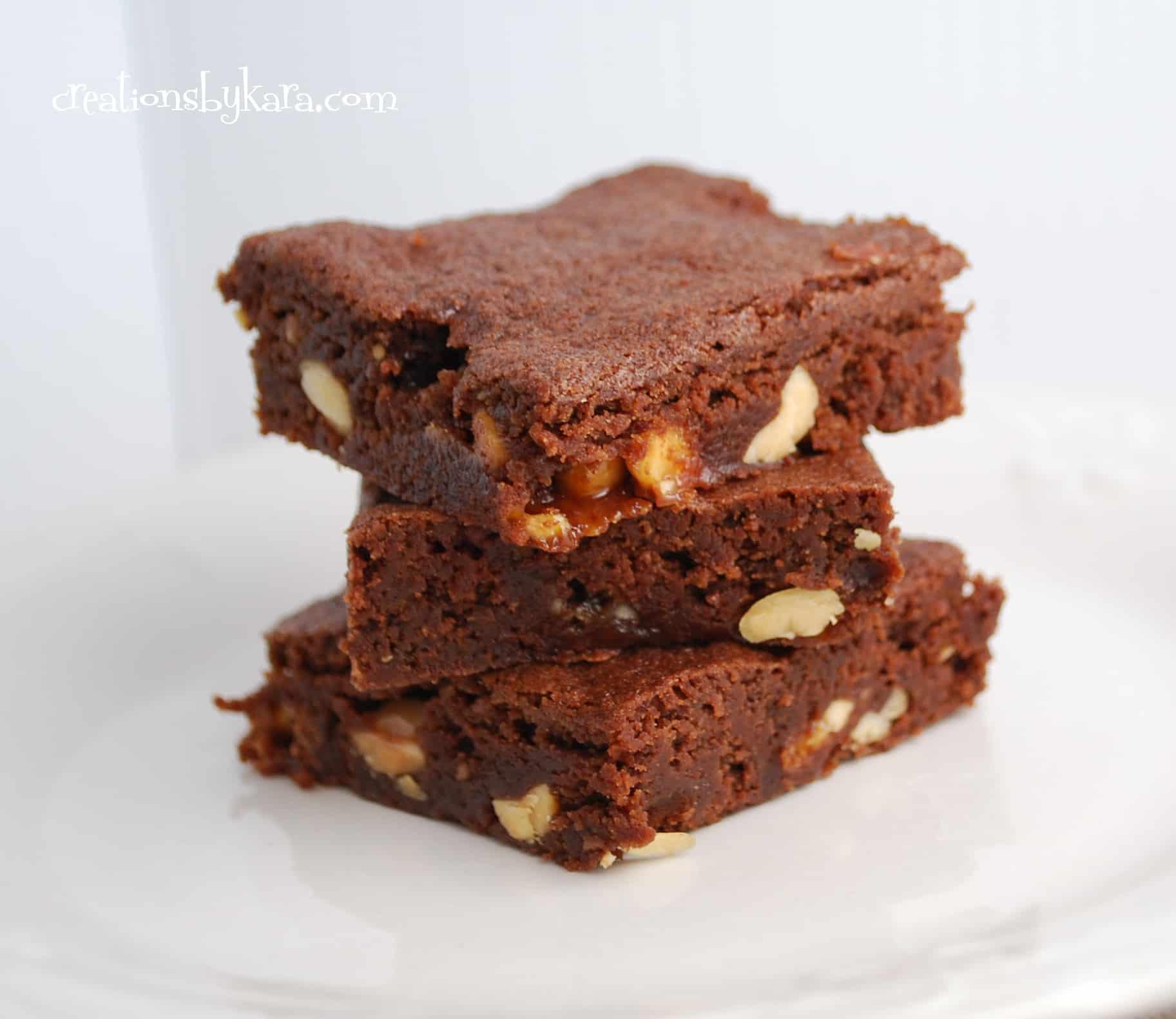 snickers brownies 003 - Creations by Kara