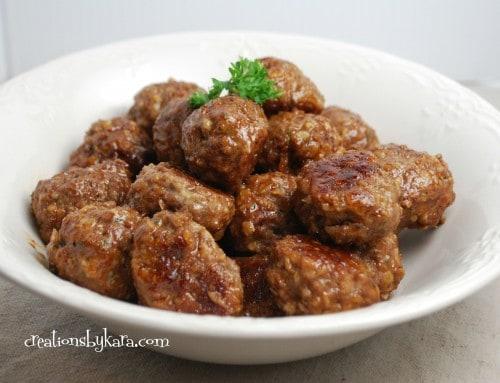 BBQ meatballs-superbowl recipe