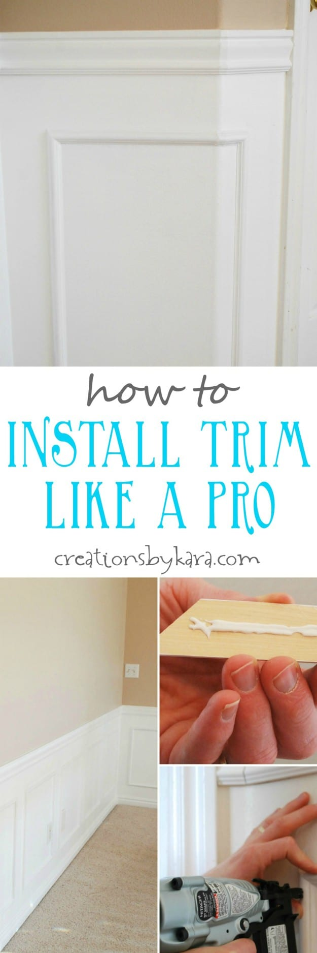 Tips and tricks for installing molding and trim like a pro. A great DIY tutorial!