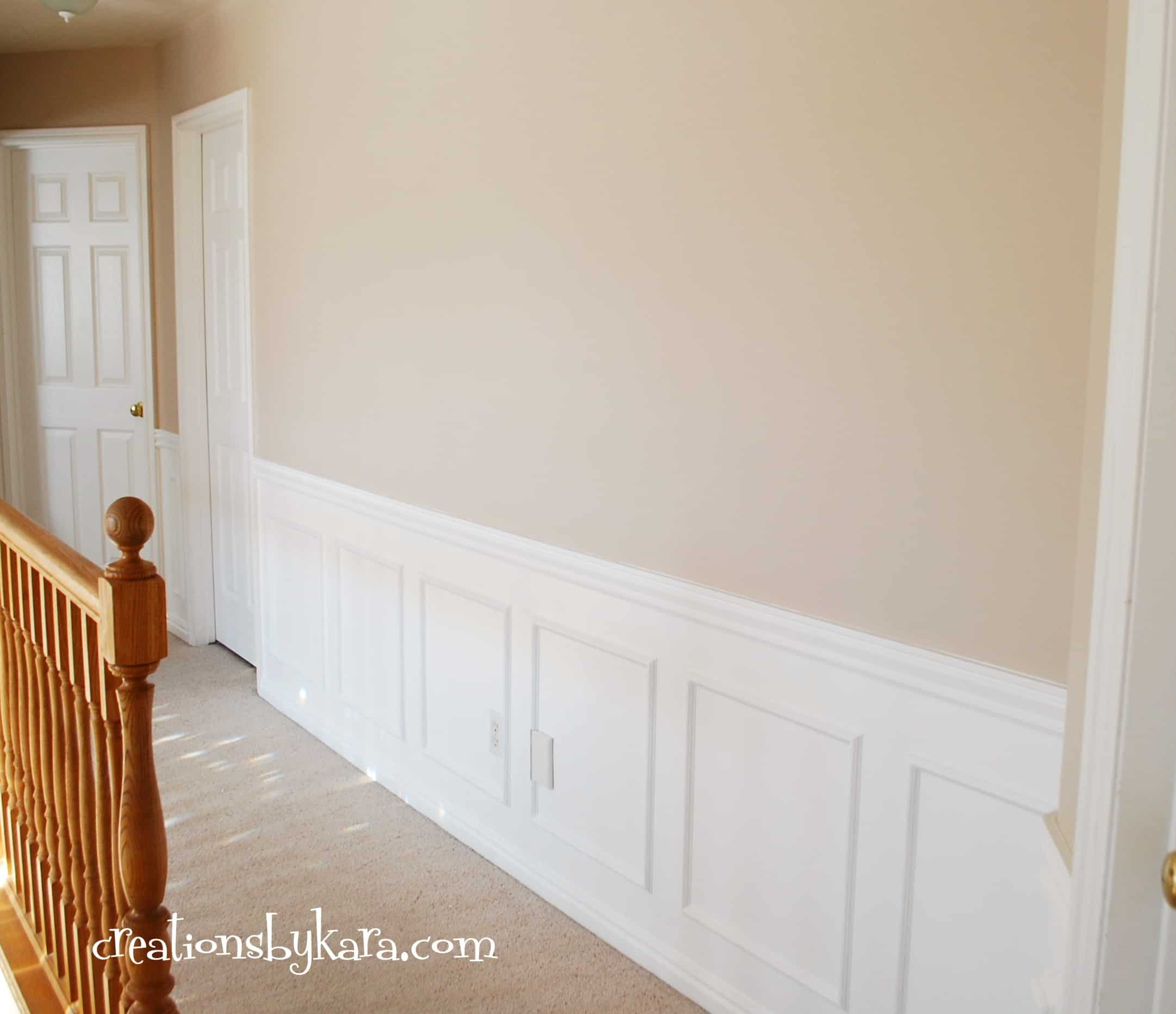 Diy hallway wainscoting for Pictures for hallway walls