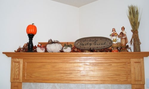 diy project- fireplace mantel makeover