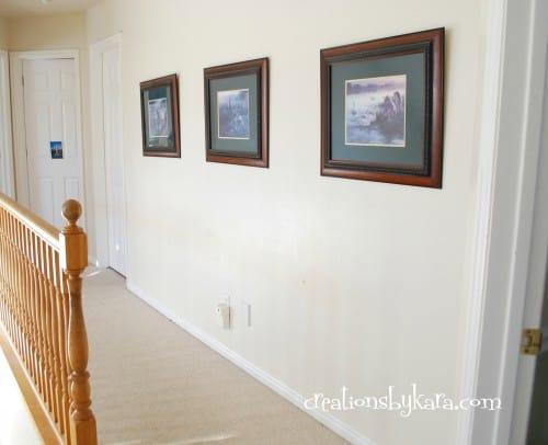 diy-hallway wainscoting