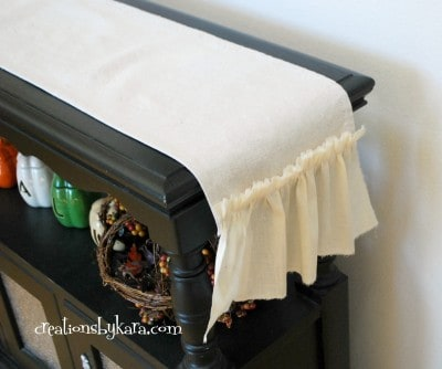 shabby chic ruffle table runner 032