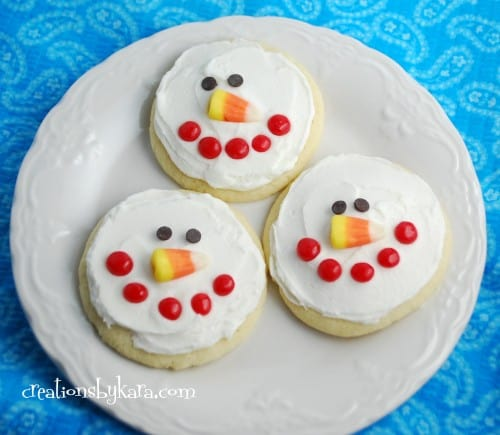 snowman-sugar cookie-recipe