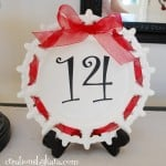 Valentine's Day Craft- Number Plate