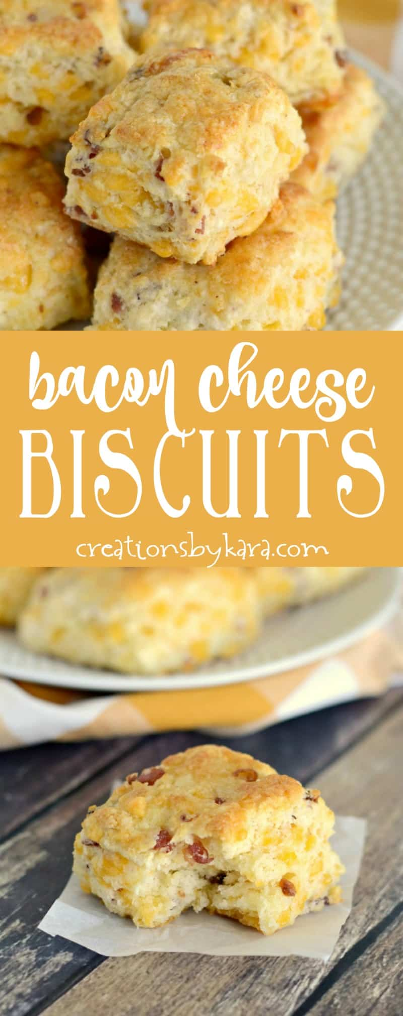 Bacon cheese biscuits are a great side to any meal, but they are especially yummy served with soup! A wonderful biscuit recipe.
