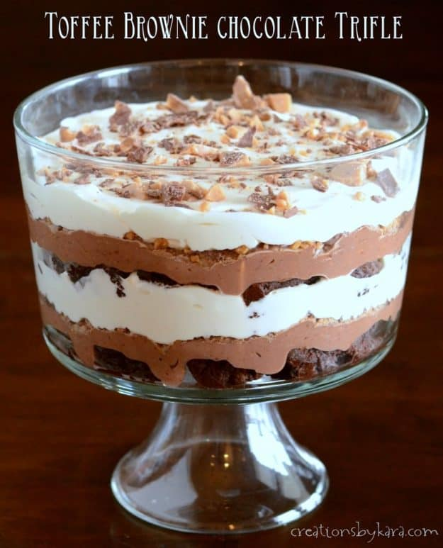 Chocolate Brownie Trifle Cake