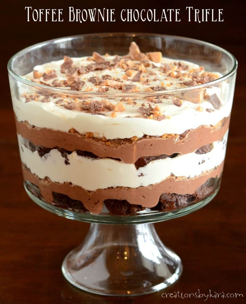 recipe toffee brownie chocolate trifle