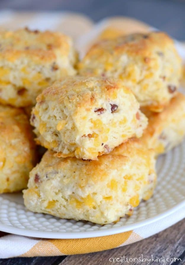 You will love these Bacon Cheddar Biscuits - they are fantastic alone, or dipped in soup.