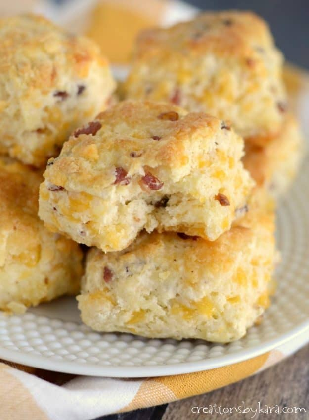 These bacon cheese biscuits just melt in your mouth. No one can resist them!