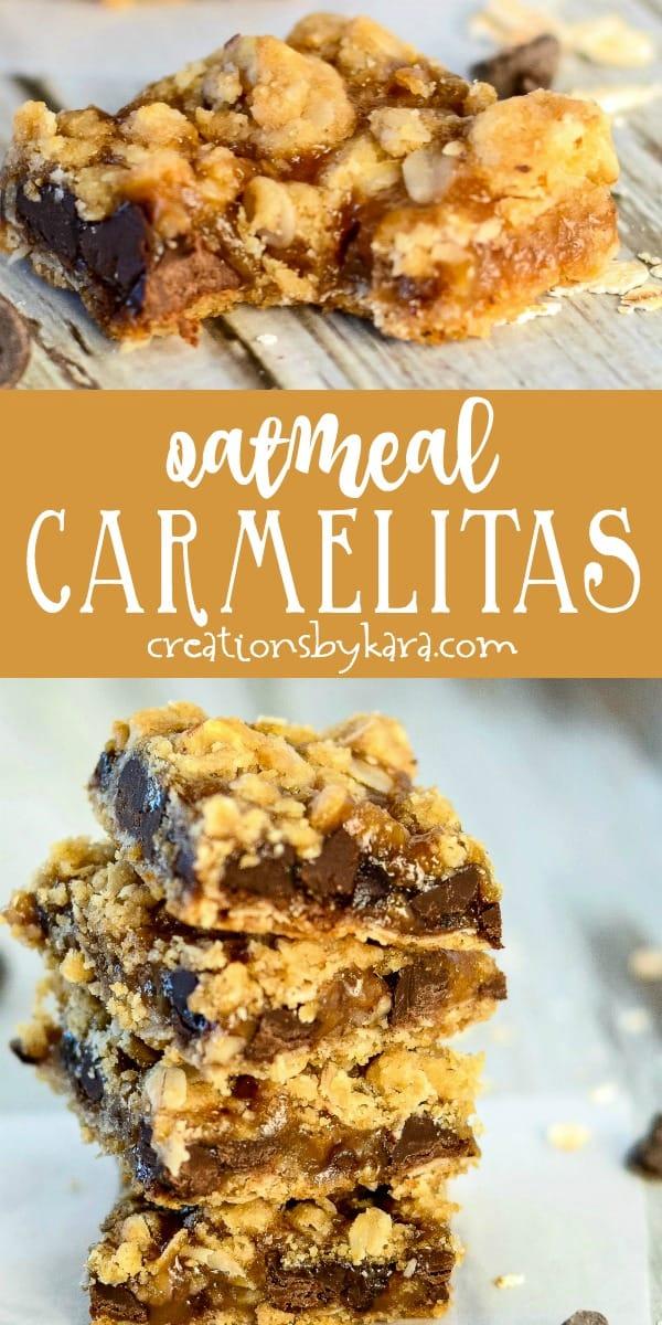 oatmeal carmelitas recipe collage