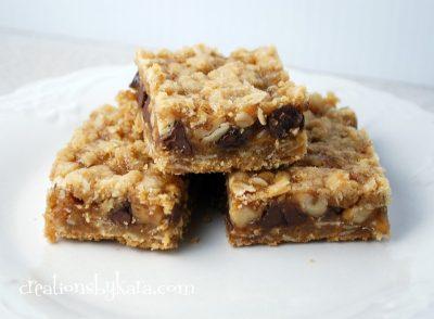 caramel oatmeal bars
