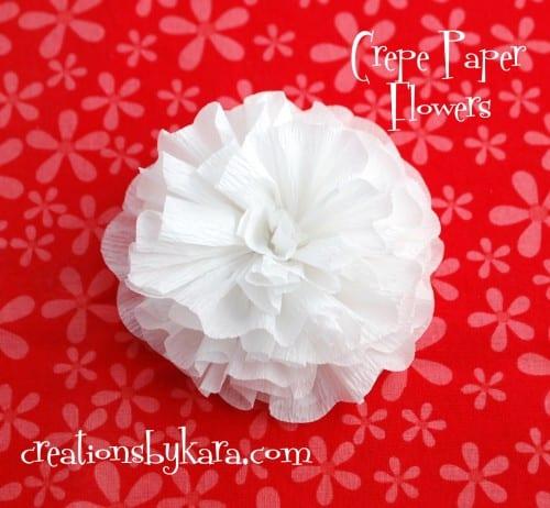 Crepe paper flower tutorial mightylinksfo