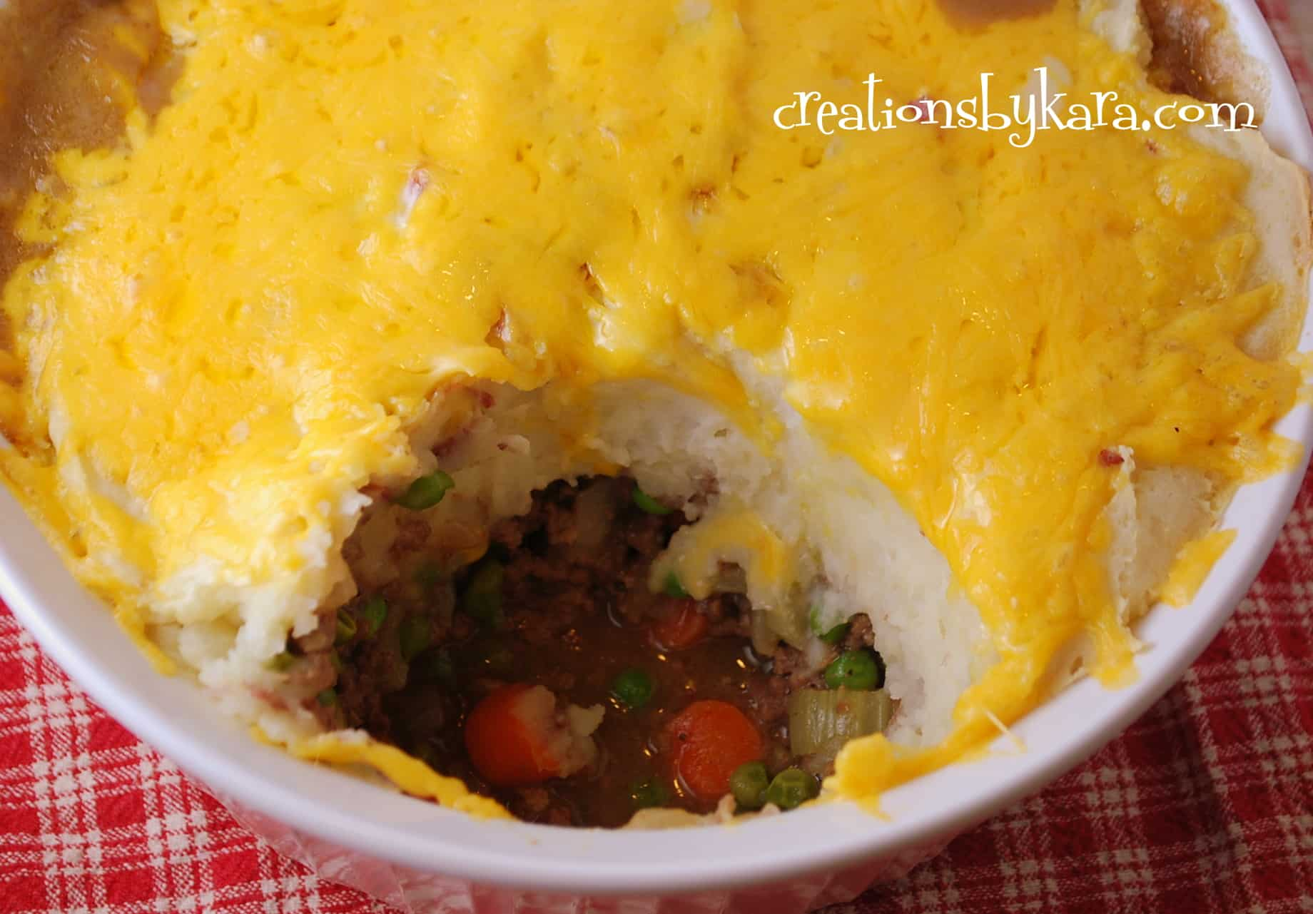 mashed potato beef casserole-recipe