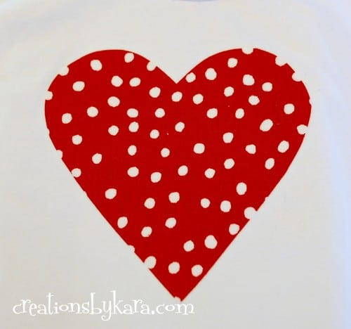 Valentine's day-ruffle heart shirt