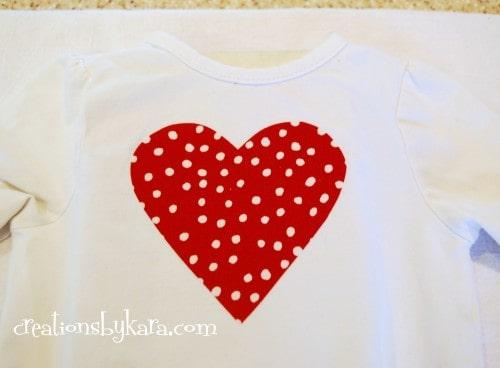 Valentine's Day-shirt refashion