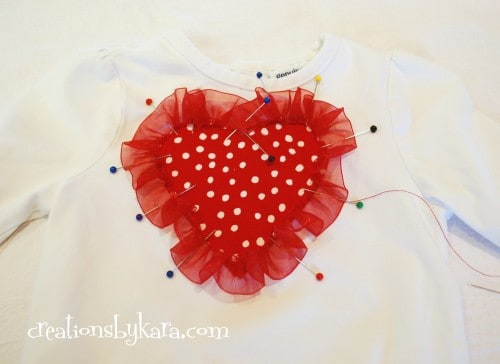 Valentine's day- ruffle shirt tutorial