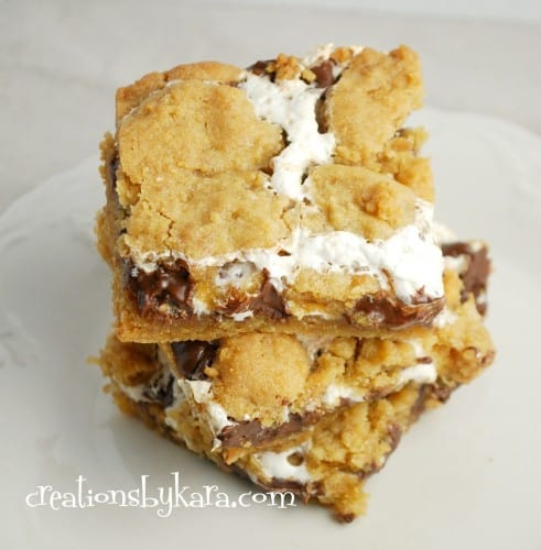 smore bars-marshmallow recipe