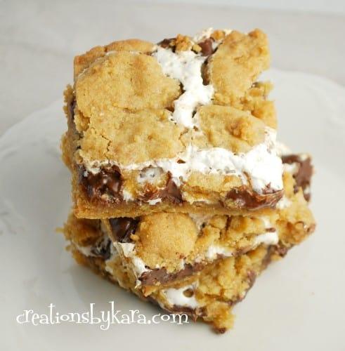smore bars-marshmallow recipe