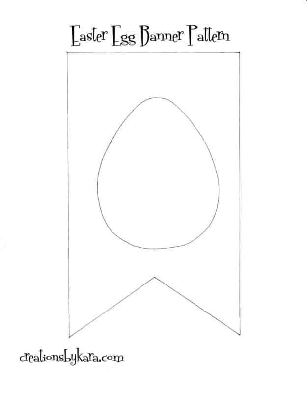 Free pattern for Easter Egg Book Page Banner