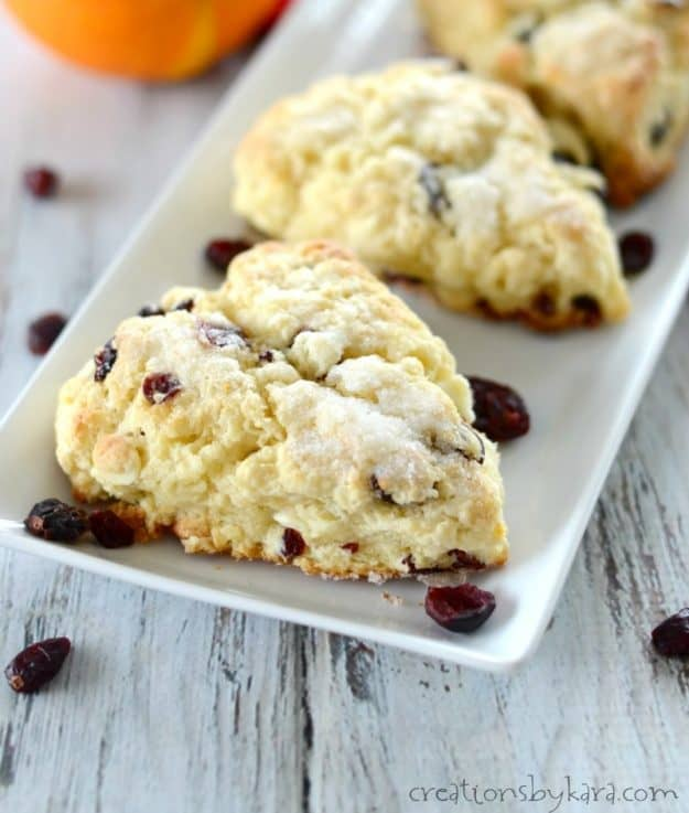 Recipe for orange cranberry scones #breakfast #brunch #scones