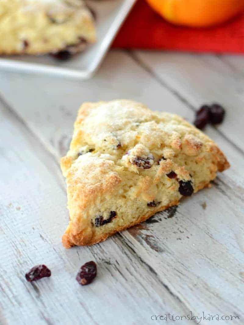 Orange Cranberry Scones with White Chocolate