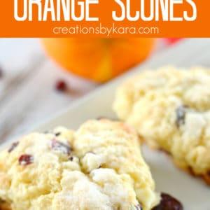 cranberry orange scones pinterest collage