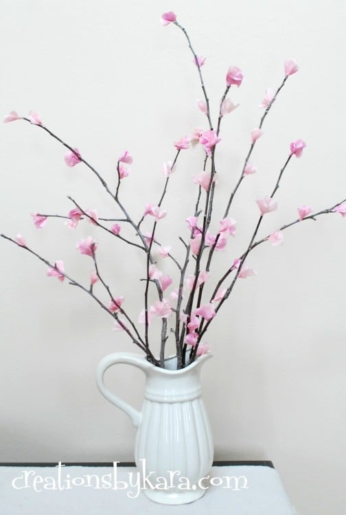 diy cherry blossoms