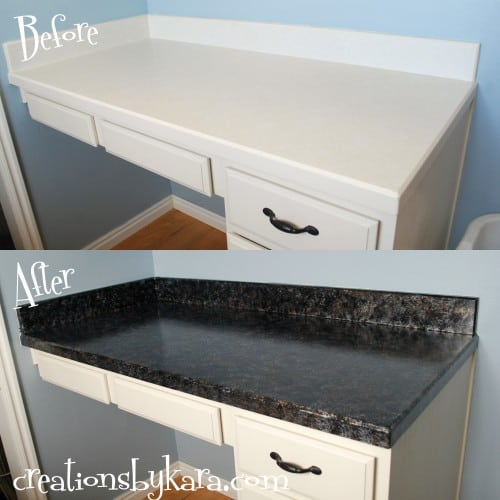 Painting kitchen countertops to look like granite - Diy Faux Granite Countertops Giani Granite Paint