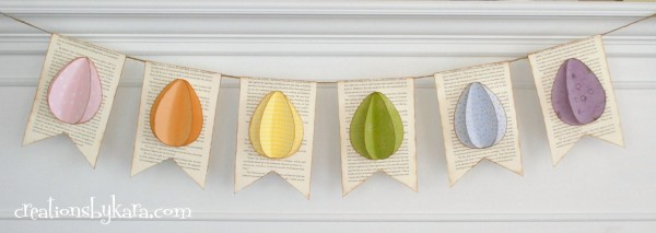 easter craft-Easter egg banner