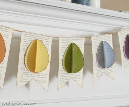 How to make an easy Easter Egg Book Page Banner