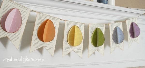 Easter craft- Easter egg banner